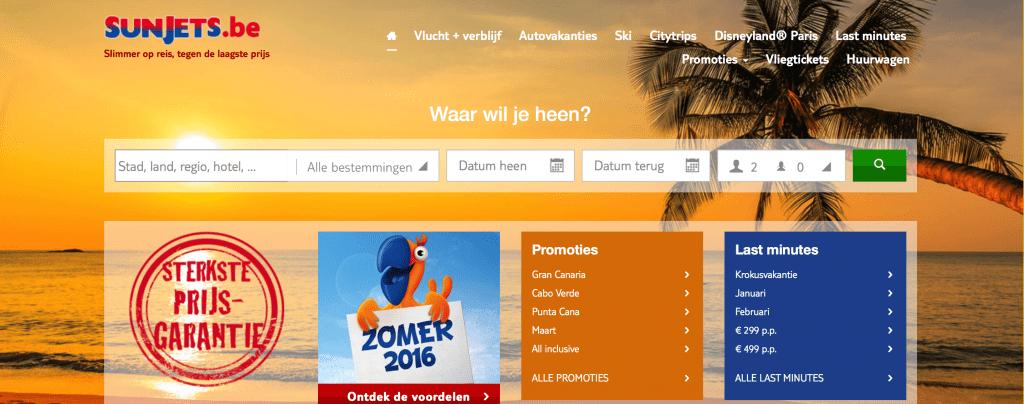 Sunjets website
