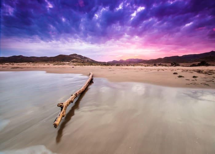 Genoveses strand in Spanje