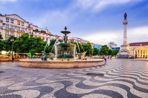 Rossioplein in Lissabon